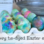 Groovy tie dyed Easter eggs