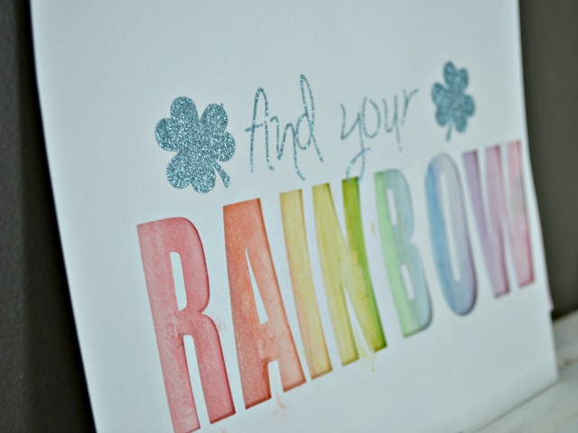 Rainbow cut paper
