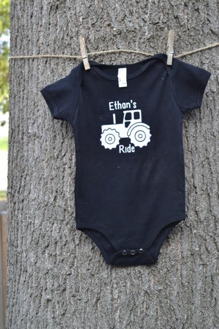 Tractor Ride Onesie Shirt1