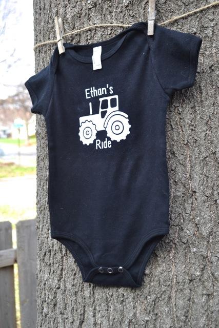 Tractor Ride Onesie Shirt2