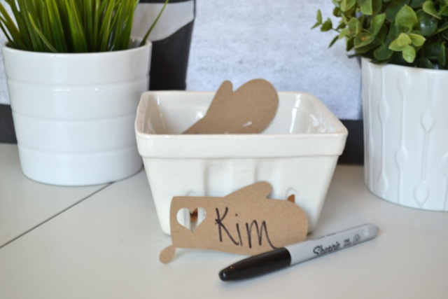 DIY Kraft paper theme nametags2