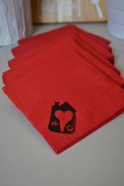 Stamped napkins1