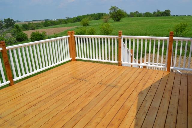 Cedar Deck Painted Rails06