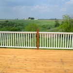 Cedar Deck Painted Rails08