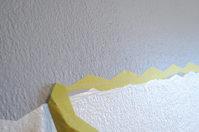 How to paint chevron on textured walls6