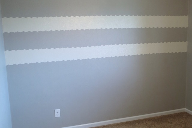 How to paint chevron on textured walls7