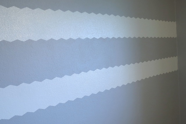 Painting chevron stripes on textured walls newlywoodwards for Painting lines on walls