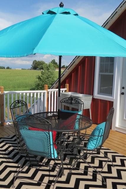 Fancy Mohawk rug chevron patio
