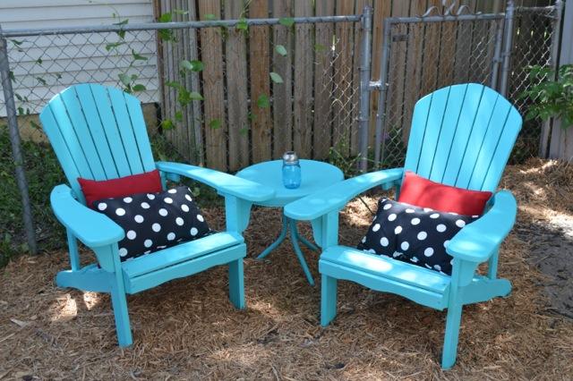 Elegant Caicos Turquoise Chairs