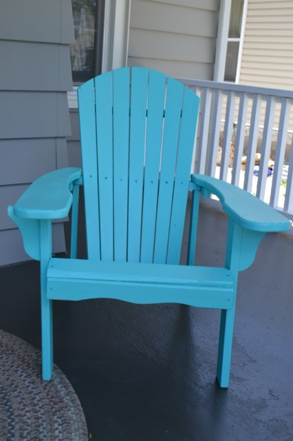 Stunning Caicos Turquoise Porch Chair