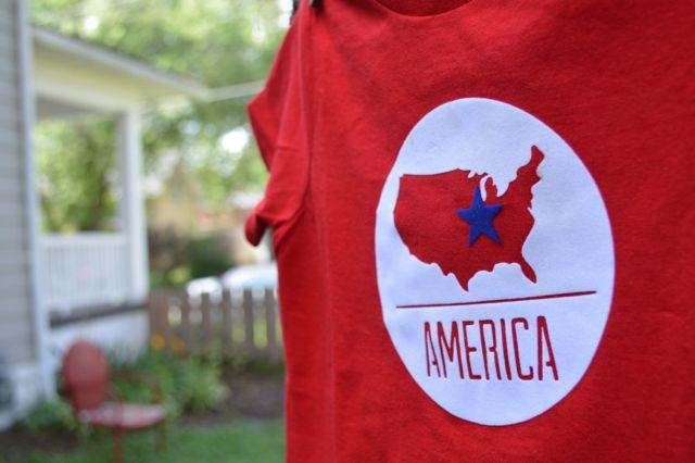USA with star Patriotic Shirt