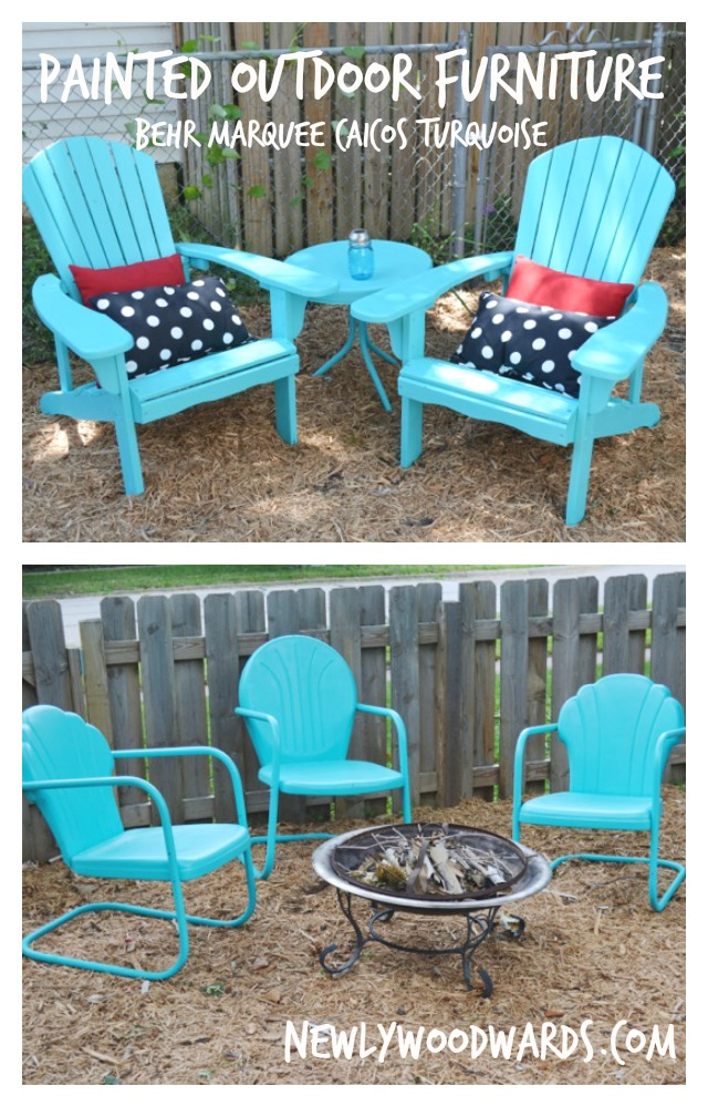 refreshing outdoor chairs with behr marquee caicos. Black Bedroom Furniture Sets. Home Design Ideas