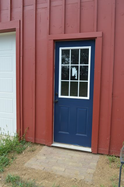 barn entrance door starless night3