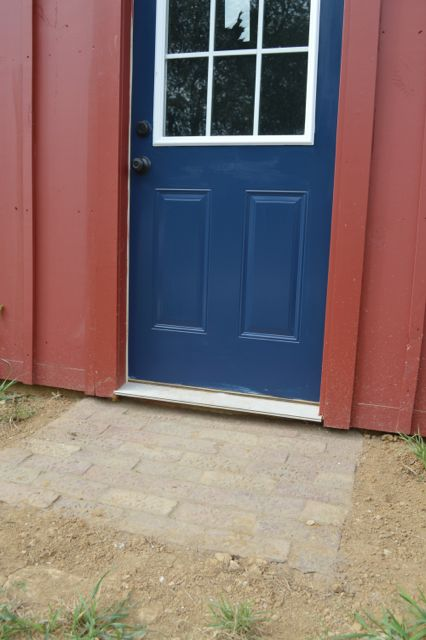 barn entrance door starless night4