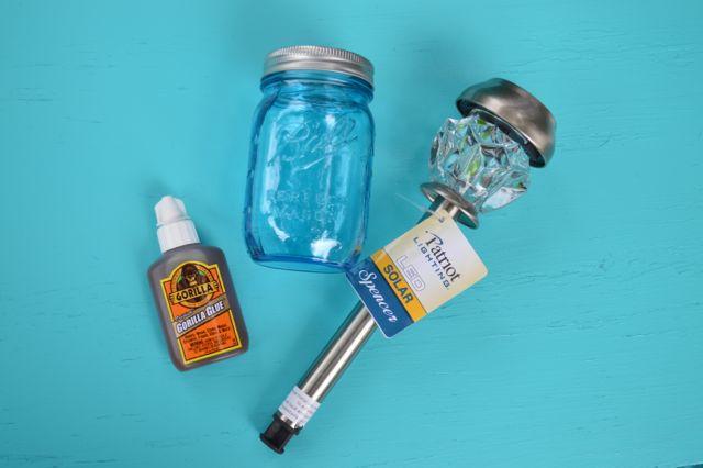 Blue ball jar solar lights1