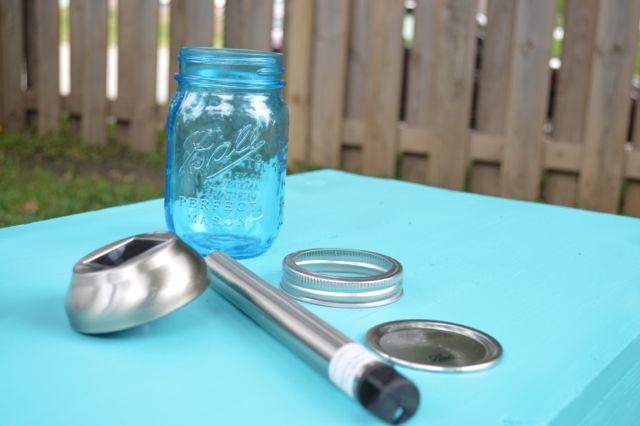Blue ball jar solar lights2