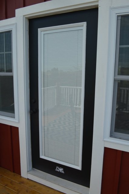 Jet black Behr patio door color1