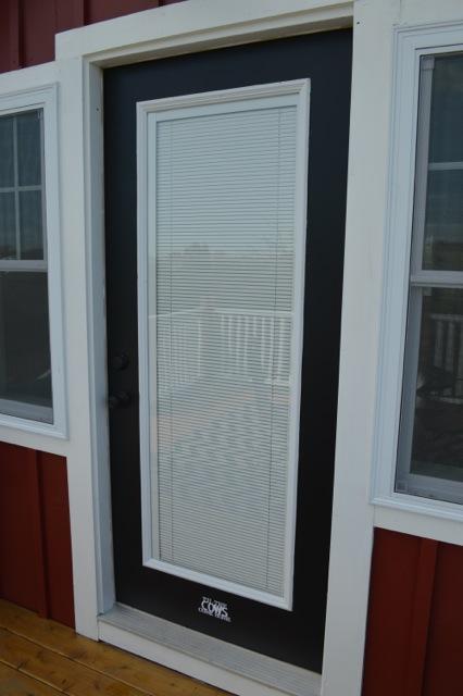 Jet black Behr patio door color1