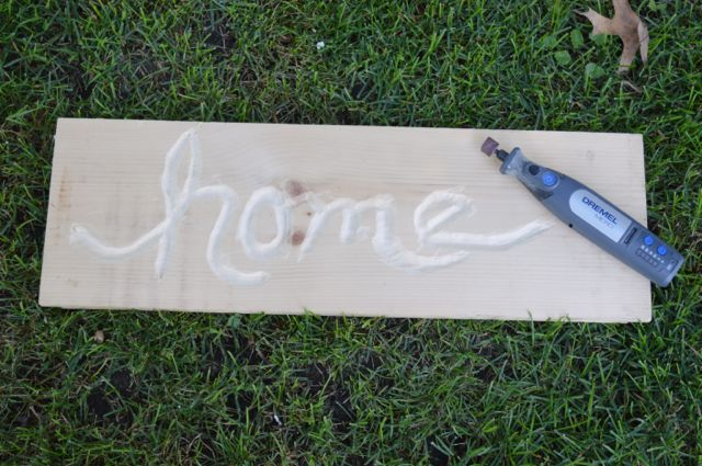 Making a home sign with Dremel NewlyWoodwards1