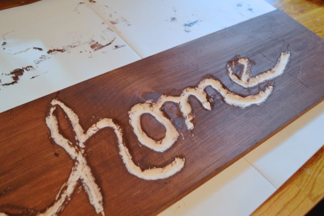 Making a home sign with Dremel NewlyWoodwards4