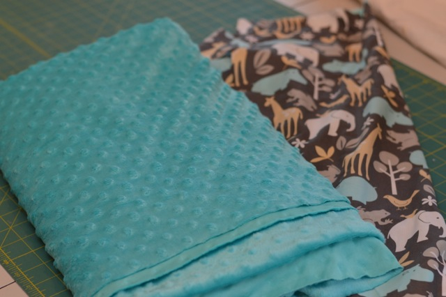 Minky DIY blanket and stuffed elephant1