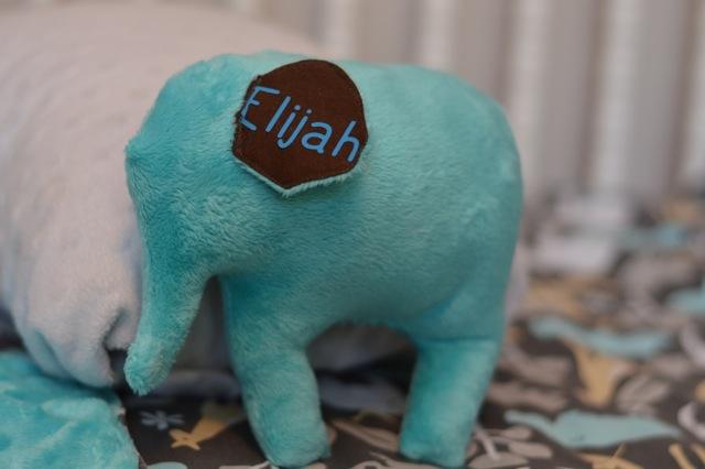 Minky DIY blanket and stuffed elephant2