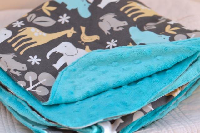 Minky DIY blanket and stuffed elephant3