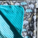 Minky DIY blanket and stuffed elephant4
