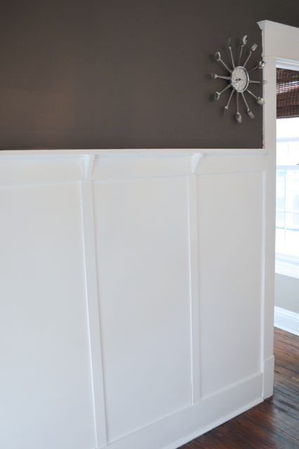 White wainscoting dining room woodwork newlywoodwards.com1