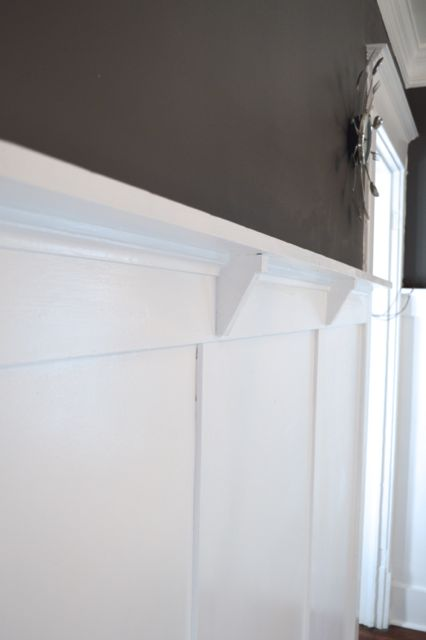 White wainscoting dining room woodwork newlywoodwards.com2