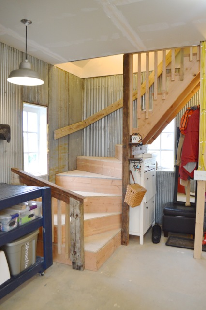 Barn garage workspace reveal NewlyWoodwards03