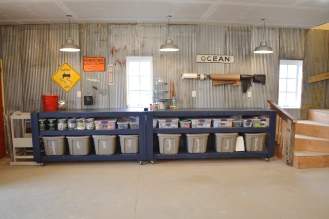 Barn garage workspace reveal NewlyWoodwards04