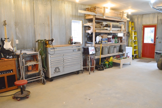 Barn garage workspace reveal NewlyWoodwards20