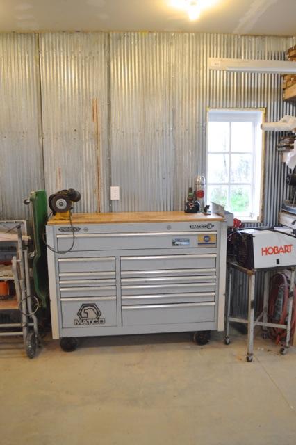 Barn garage workspace reveal NewlyWoodwards21