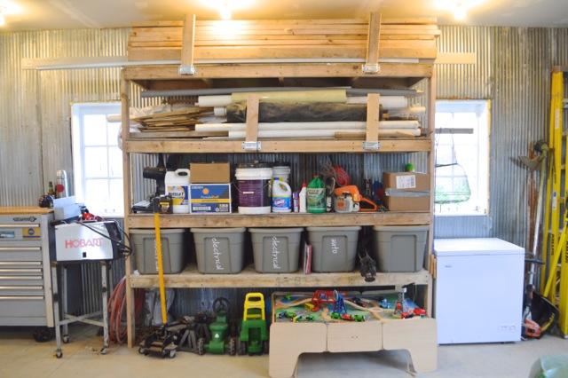 Barn garage workspace reveal NewlyWoodwards22