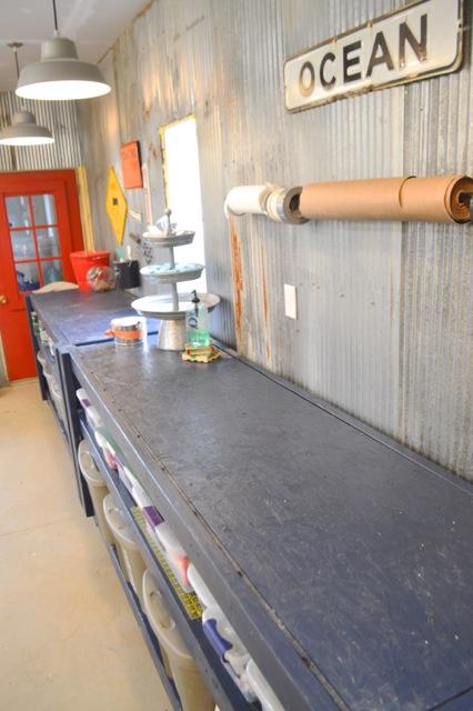Barn garage workspace reveal NewlyWoodwards27