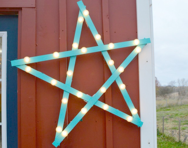 DIY marquee star