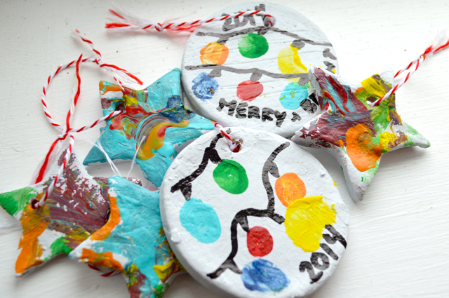DIY dough ornaments hand painted Behr2