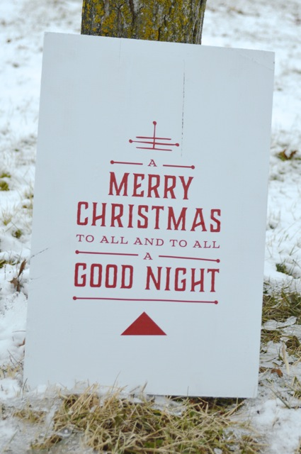 Merry Christmas sign3