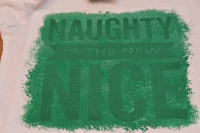 Naughty is the new nice DIY ink shirt NewlyWoodwards2