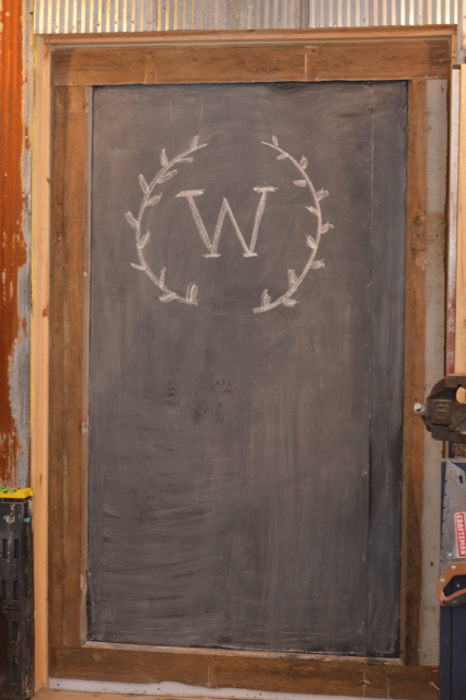 Custom chalkboard barn door1
