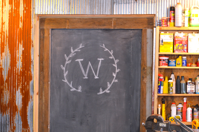 Custom chalkboard barn door2