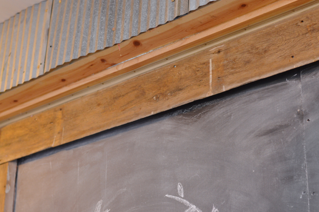 Custom chalkboard barn door3