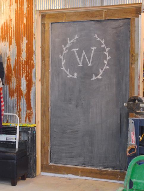 Custom chalkboard barn door4 & A chalkboard door in the barn - NewlyWoodwards Pezcame.Com