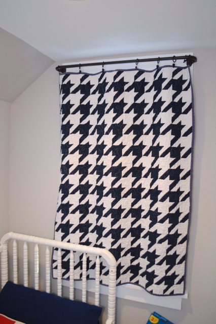 houndstooth quilt curtain1