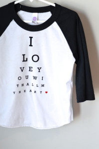 DIY Valentine shirts and cards