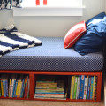red toddler platform storage bed1