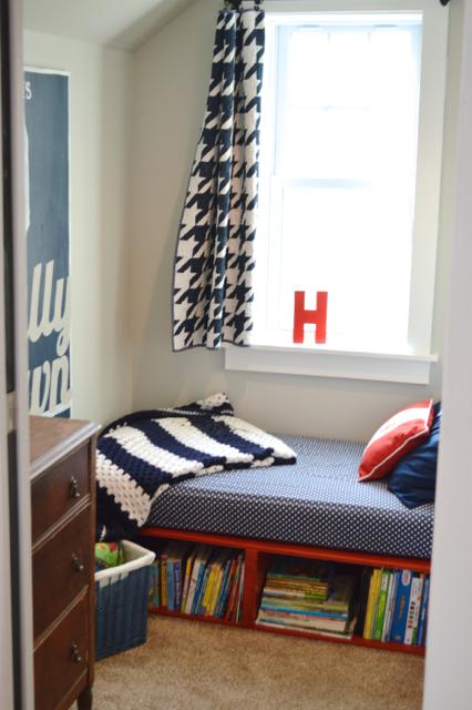 Red Toddler Platform Storage Bed2