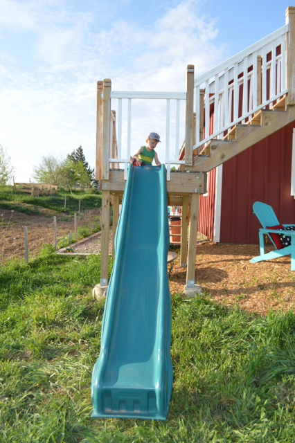 DIY slide from deck platform1