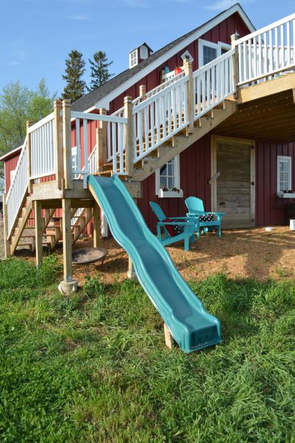 Creating a slide on a deck platform for Balcony platform